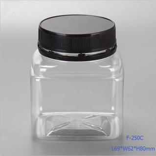 200ml Small Square Clear Plastic Food Containers