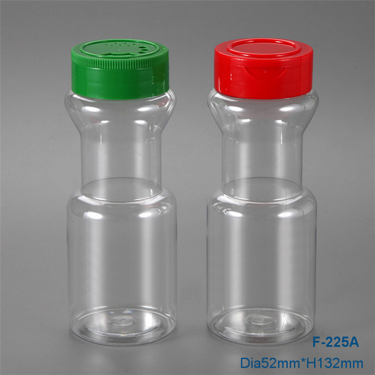 Hot Selling 225ml Kitchen plastic spice jars with twist lid