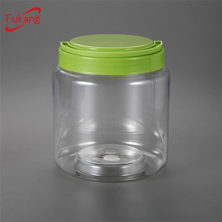 Manufacturer Large Clear Gift Storage Jar with Lids Plastic Container for USA