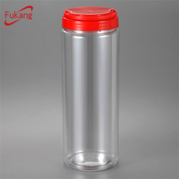 Transparent Tall PET Packaging Jars With Handle Cap