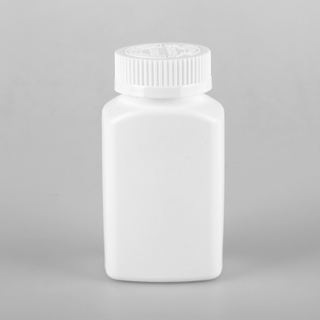 150ml HDPE vitamin jars plastic tablet bottles with flip top cap