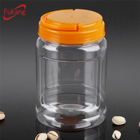 30oz food storage container, clear wide mouth toys plastic jars, pet sweet candy jar manufacturer in China