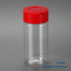 Clear PET Plastic Spice Jar Pepper Container With Flip Cap