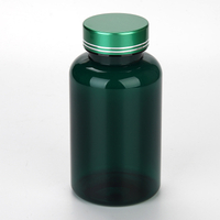 Dark Green 250ml Empty Pharmaceutical Pill Bottle With Metal Cap