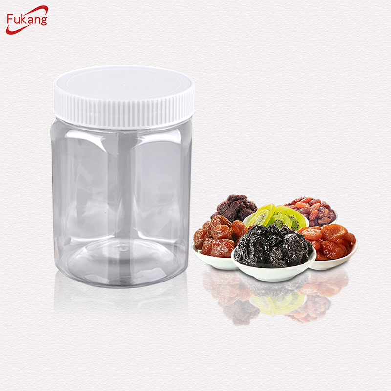850ml Transparent Round Food Grade Plastic Jar With Hermetic