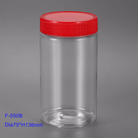 550cc plastic mason jars wholesale food grade storage Clear Plastic PET Container 550 ml